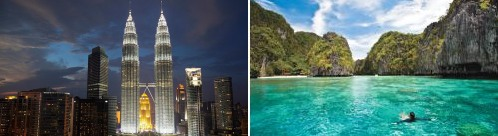 Malaysia and the Philippines