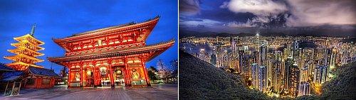 Tokyo, Japan and Hong Kong