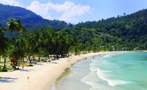 A beach in Trinidad and Tobago