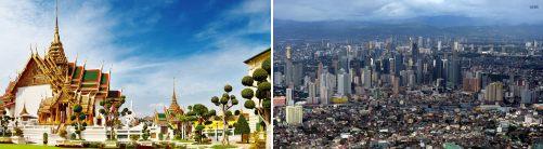 Bangkok, Thailand and Manila, Philippines