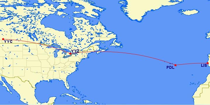 Calgary To Ponta Delgada Azores 635 Roundtrip