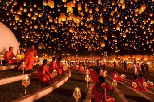 Taiwan lantern festival near Pingxi