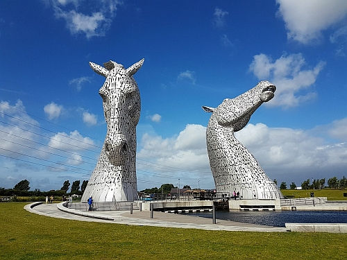 The Kelpies near Glasgow, Scotland